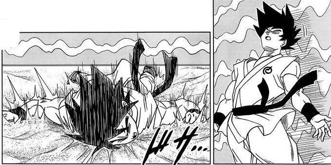 Goku falls