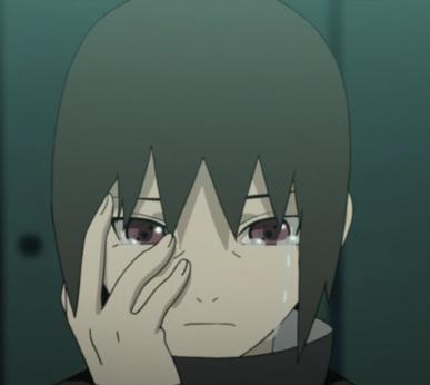 Itachi crying