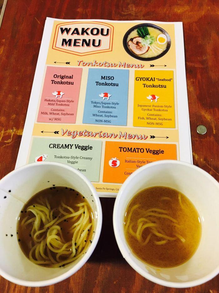 Wakou menu