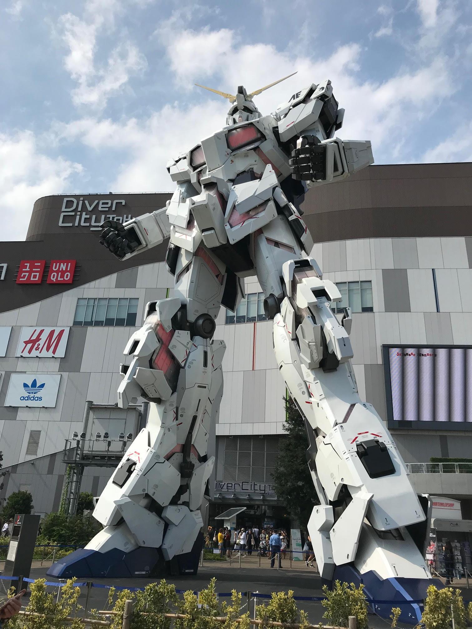giant gundam tokyo